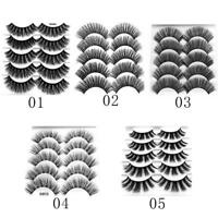 5 Pairs 100% Real Mink 3D Volume Thick Daily False Eyelashes Strip Lashes·