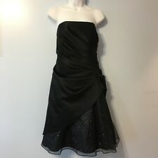 Onyx Nite New Black Strapless Formal Dress Size 10