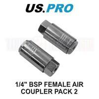 US PRO Tools 2 x Quick Release BSP Air Coupler 1/4 Female 8235