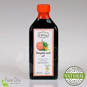 PUMPKIN SEED OIL - Cold Pressed, Unrefined 250 ml Ol'Vita - Olej z pestek dyni