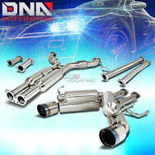 "4.5""DUAL BURNT TIP STAINLESS EXHAUST CATBACK SYSTEM FOR 350Z/G35 FAIRLADY Z33"