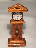 "Miniature Grandfather Clock Home Decor, 4"" Tall"