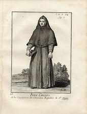 XVIIIe / FRERE CONVERS de la Congrégartion des Chanoines de St Victor