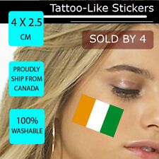Cote d'Ivorie Ivory Coast Face Arm Sticker World Cup 2014 Tattoo Football WC