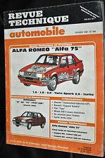 Revue technique automobile Alfa Romeo 75  n° 488