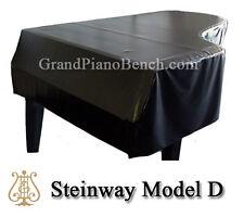 """Steinway Black Vinyl Grand Piano Cover Model D - 8'11-3/4"""" - Side Slits"""