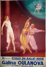 Vintage Russian Ballet Poster on Linen