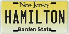 Hamilton New Jersey Aluminum License Plate