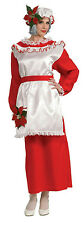 Mrs. Poinsettia Santa Claus Adult Christmas Costume Size Standard up to 12