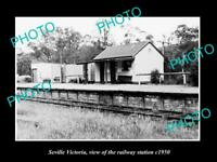 OLD LARGE HISTORIC PHOTO OF SEVILLE VICTORIA, THE RAILWAY STATION 1950