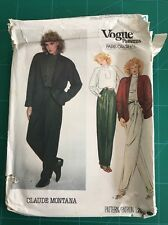 Vintage sewing pattern Vogue Paris Original Claude Montana 2853