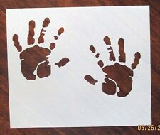 Baby Hand Prints Stencil for Airbrush, Crafting, Card Making, ect.