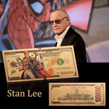 WR Stan Lee Colorful Gold Foil Banknotes Paper Money Souvenir Fan's Gifts
