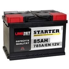 LANGZEIT Autobatterie 12V 85Ah ersetzt 70AH 72AH 74AH 75AH 77AH 80AH Batterie