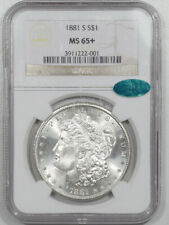 1881-S MORGAN DOLLAR - NGC MS-65+ BLAST WHITE, PREMIUM QUALITY & CAC APPROVED!