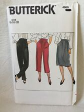 Butterick 4666 sewing Pattern Size 8-10-12  UNCUT Misses pants and skirt