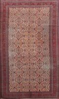 Antique Floral Anatolian Turkish Area Rug Hand-knotted Vegetable Dye Carpet 6x9