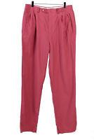 Womens Pants Slacks Trousers Casual Vintage Pink Size W32 L35 - J5123