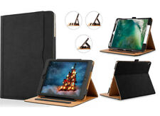 For Apple iPad MINI 2 Black TAN Magnetic Smart Genuine Leather Stand Case Cover