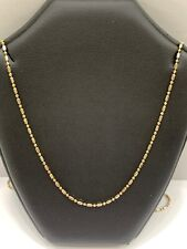 18ct 18K Two Toned Gold Italian Ball Bead Chain Necklace 3.1 Grams 45cm New