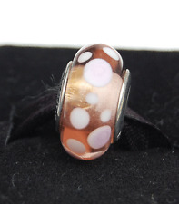 "Genuine Pandora Murano Glass Bead ""Pink Bubbles"" 790694 - retired"