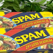 Hormel Spam Breakfast Lunch Luncheon Meat 25% Less Sodium 8 Pack - 12 oz Cans