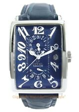 GEVRIL Avenue of Americas 5024 GMT Power Reserve Swiss Steel Watch Box/Papers
