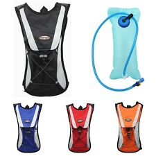 New Cycling Backpack Climbing Hydration Pack Hiking Bag Water Pouch With Bladder