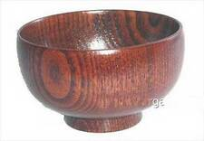 2x Wooden Rice Miso Soup Bowls S-1653x2