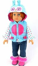 Whoo's The Cutest Owl Pant Set w/Vest Fits 18 in American Girl Doll Clothes