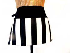 Unisex Grilling Flirty waiter waitress Apron with 3 Pockets bold black white str