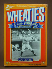 WHEATIES CEREAL FULL BOX 60 YEARS OF SPORTS HERITAGE LOU GEHRIG COLLECTORS ED.