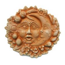 SOLE E LUNA CM 30 PARETE TERRACOTTA Made In Italy artigianale esterno giardino
