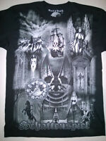 LACRIMOSA T-Shirt Embroidered Logo RARE Illuminate Snakeskin Therion Goth Tilo