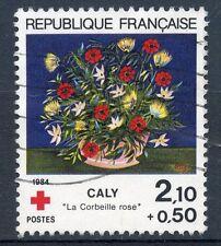 STAMP / TIMBRE FRANCE OBLITERE N° 2345 CROIX ROUGE FLEUR
