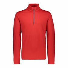 CMP Fleece Pullover Jumper One Sweat Red Breathable Elastic Warming Plain Colour