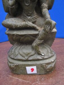 """8"""" Antique Old Rare Hand Carved Stone Collectible Religious Hindu GODDESS Statue"""