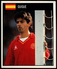 Quique Spain #149 Orbis World Cup Football 1990 Sticker (C234)