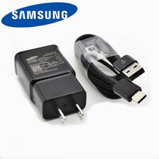 New Genuine Samsung Galaxy S9 S8 plus Note 8 Fast OEM Wall Charger+Type C -CABLE