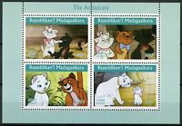 Madagascar 2019 MNH Aristocats 4v M/S Cats Disney Cartoons Animation Stamps