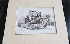 Vintage motorbike Ariel Art Print By Pete Wilford Mounted  12 X 10