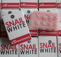 70g SNAIL WHITE SOAP GLUTATHIONE X10 WHITENING SKIN REDUCE ACNE AGING SOFTEN