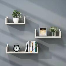 Set 3 Mensole Muro moderne Mensola da parete scaffale pensile legno CD Design