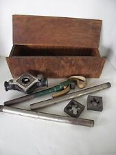 Antique Armstrong Pipe Threader No. 1 Chicago With Dies & Accessories