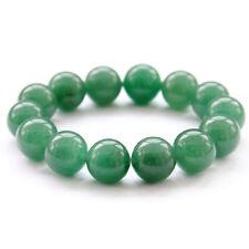 14mm Green Jade Gem Tibet Buddhist Prayer Beads Mala Bracelet