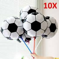 "10X Football Foil Balloons Birthday Party Balloon Boy 18"" Girl or other activity"