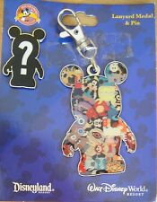 Disney Lanyard Medal and Pin Set -Vinylmation- Card Damaged- Pin#82449