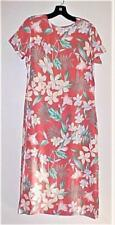 Salmon Colored 100% Silk Floral Print Spring/Summer Dress Size 8 NEW
