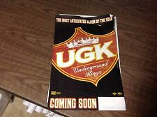 UGK PIMP C PROMO Static Cling Like A Sticker album Cd hip hop. music OOP