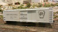 Train Miniature HO PRR, White Car 40'  Steel X-29 Boxcar, Upgraded, Ex